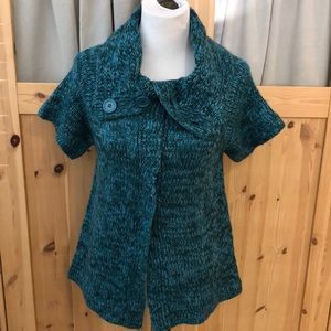 🍁 3/$25 Sweater Project Snap Cardigan Teal
